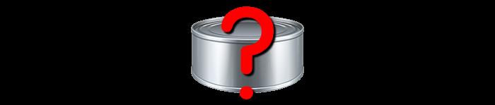 question sur la nourriture humide en boite
