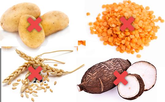 Les nouveaux aliments pour chiens Amikinos sans céréales, ni légumineuses (lentilles, petits pois, pois chiches…), ni pomme de terre, ni tapioca.