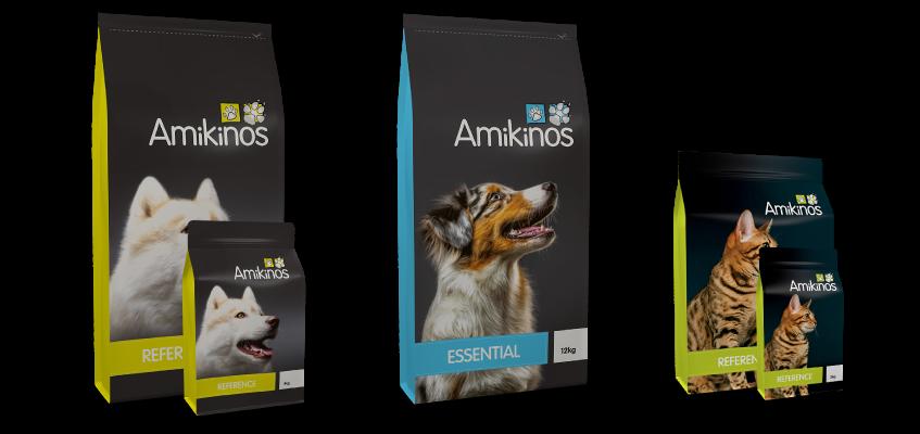 Gamme de croquettes chien et chat Amikinos