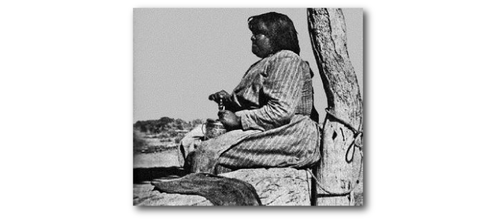 """Photo d'une Pima, se prénommant """"Louisa"""", en surpoids malgré une grande activité physique, et une pauvreté extrême."""