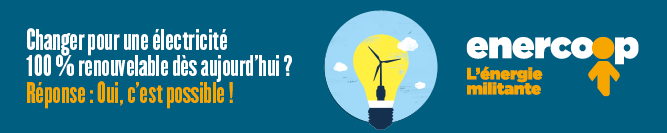 Logo d'enercoop, fournisseur d'éléctricité 100% renouvelable utilisé par Amikinos